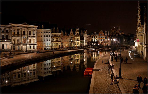 Korenlei en Graslei in Gent