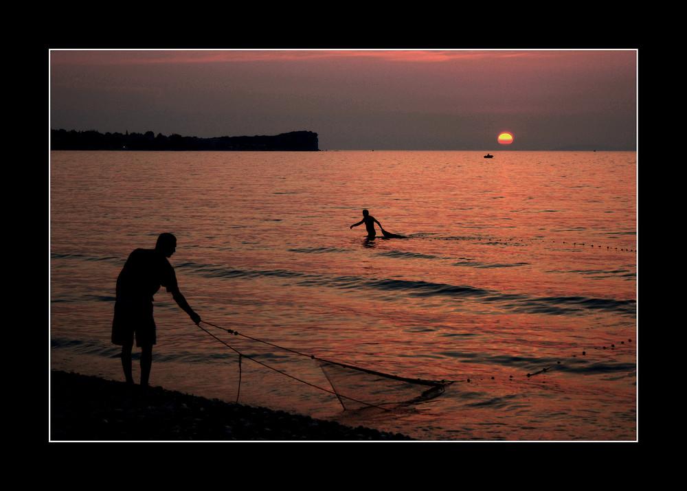 Korfu 2, Fischer bei Acharavi, Juli 06