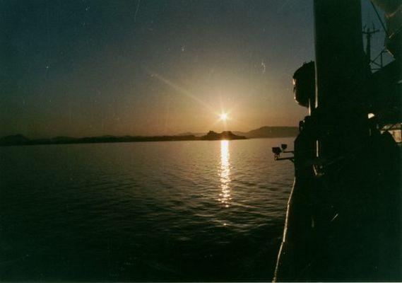 Korfu im Sonnenuntergang