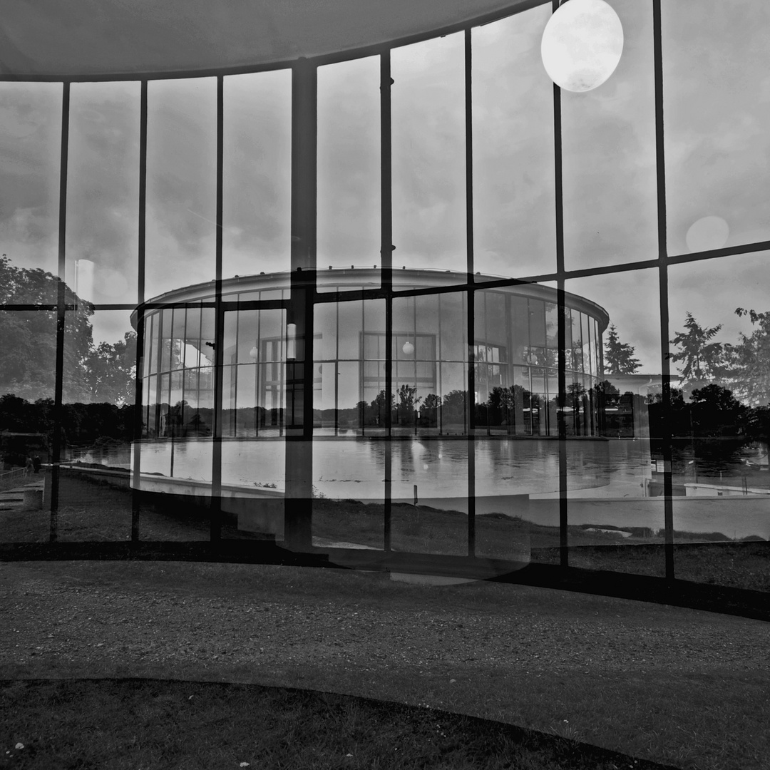 Kornhaus Dessau VII - Kombigrafie by Hans-Peter Keller