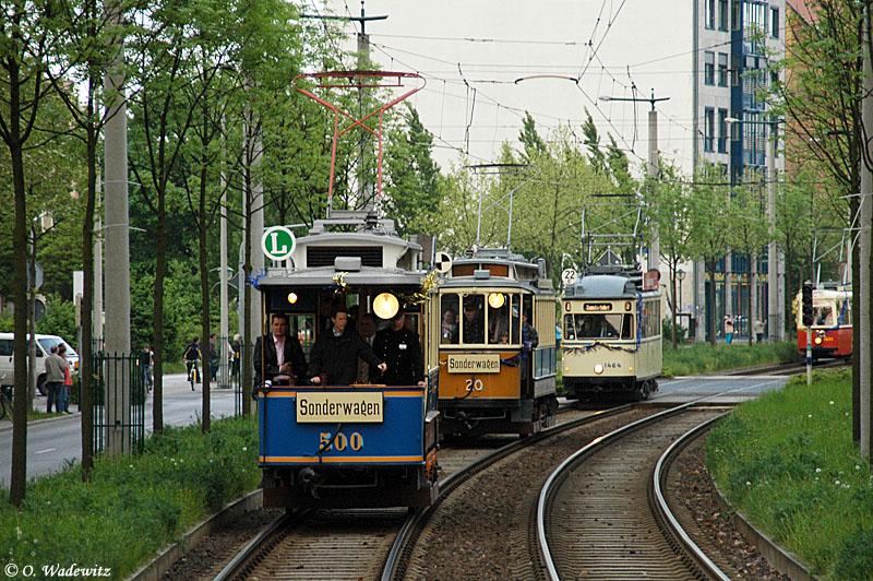 Korso zum Bimmelfest der Straßenbahn in Leipzig I