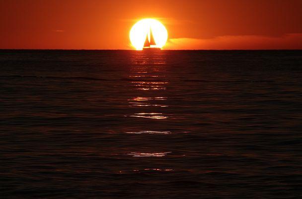 Koversada, tramonto