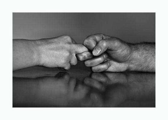 Kraftvolle Hände