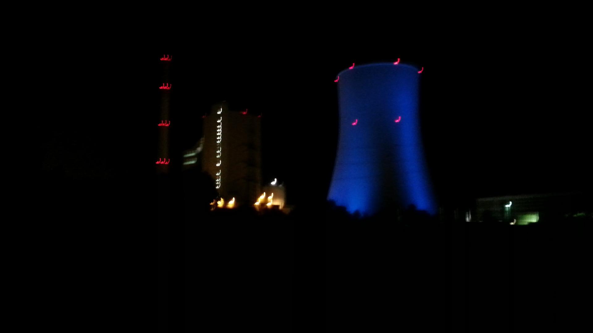 Kraftwerk Bexbach (Saar) Bei nacht