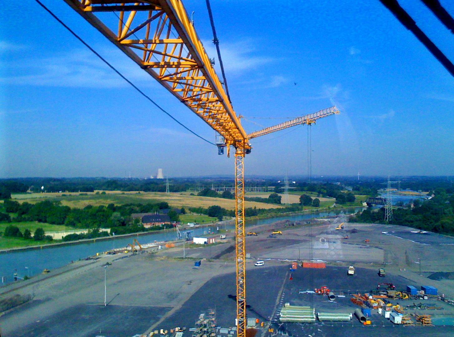 Kraftwerk Lünen - Weitblick auf Datteln-Hamm-Kanal