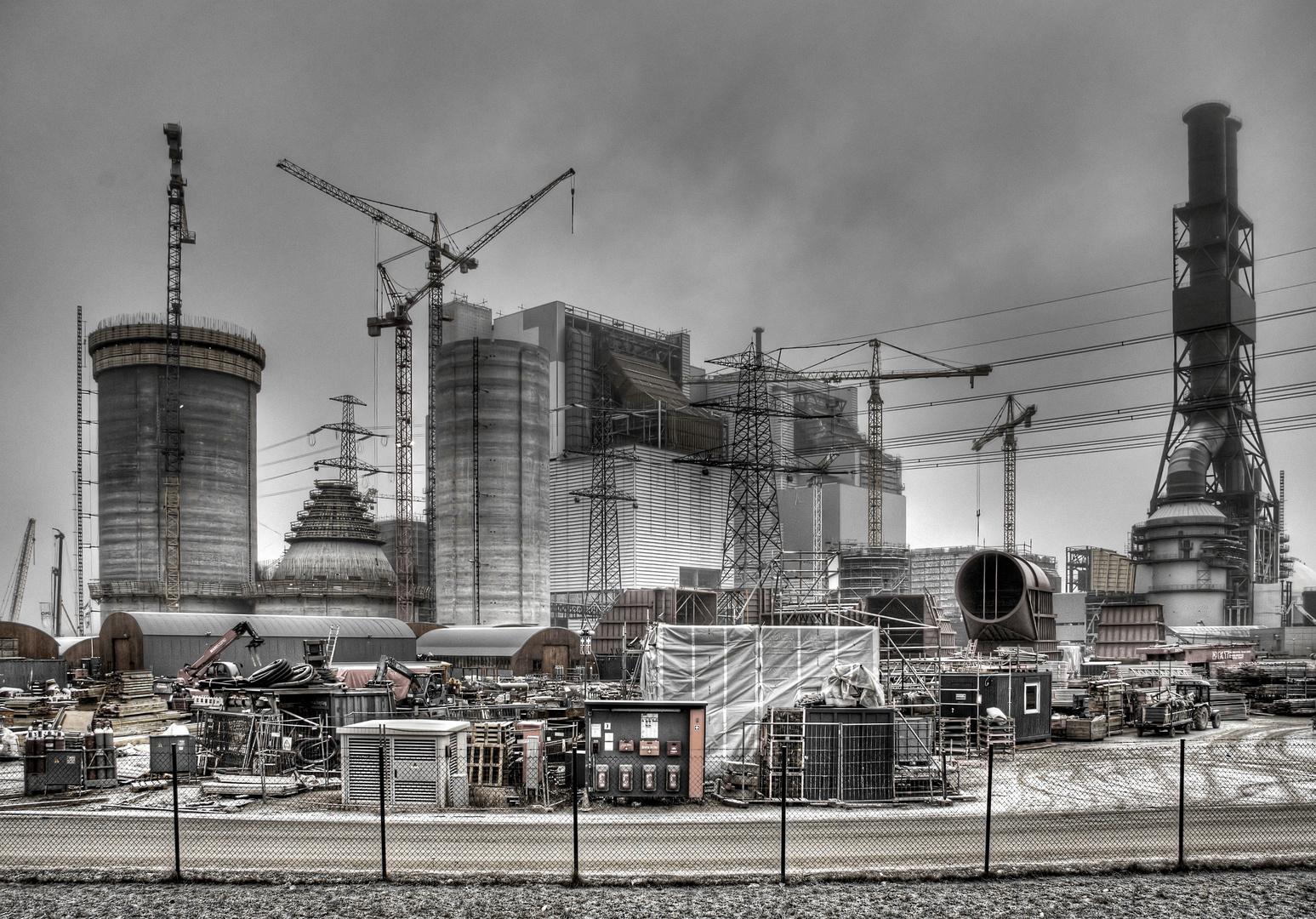 Kraftwerk Moorburg im Nebel (2)