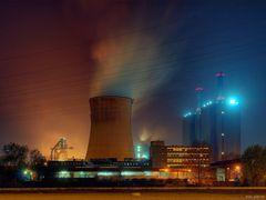 Kraftwerk nebst Hochofen