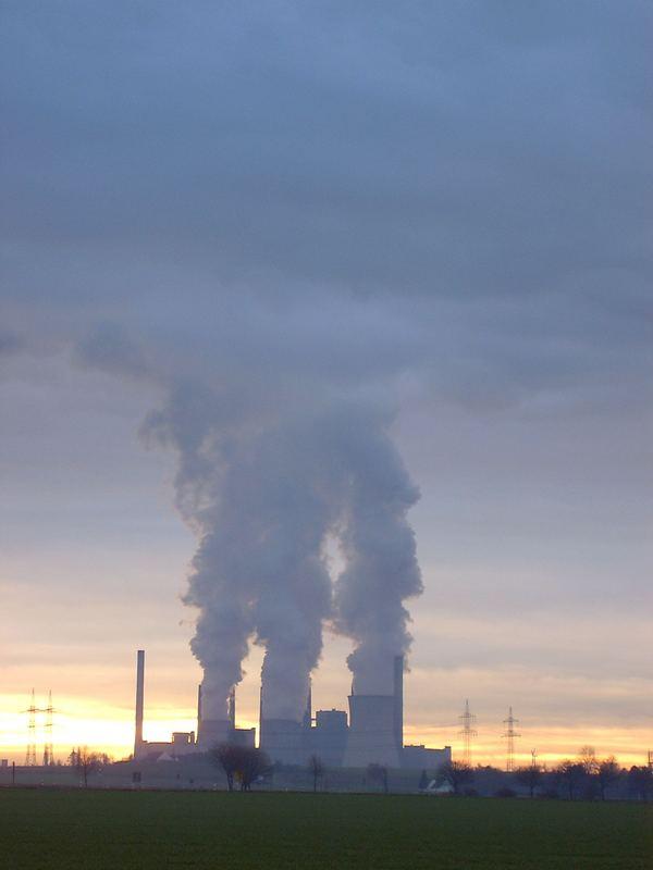 Kraftwerk Neurath im Dezember