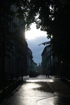 Krakaus Straßen nach einem Regenguss