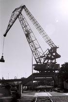 Kran im Industriehafen