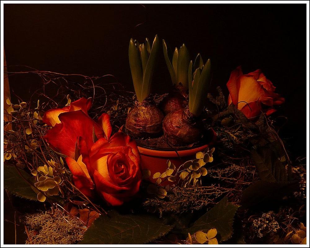 Kranz mit Rosen
