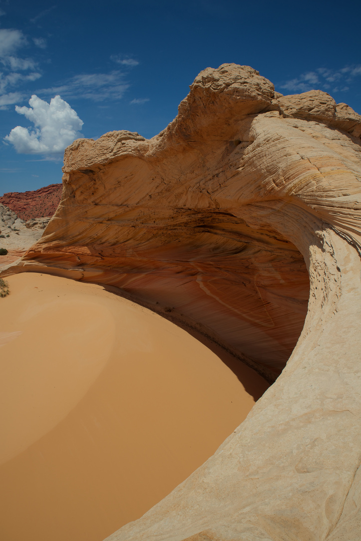 Krater mit Sand, Coyote Buttes North