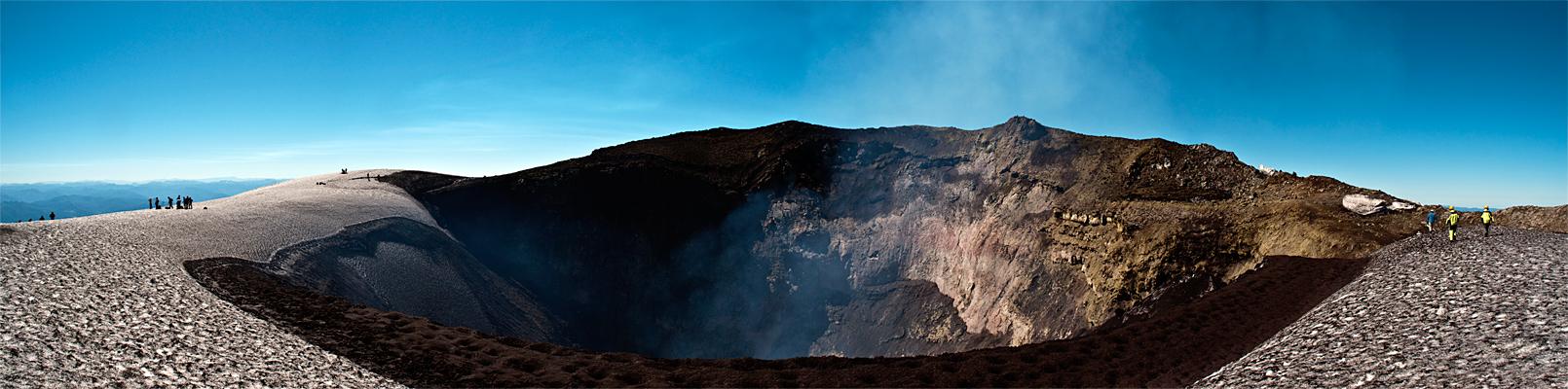 Krater Vulkan Villarica
