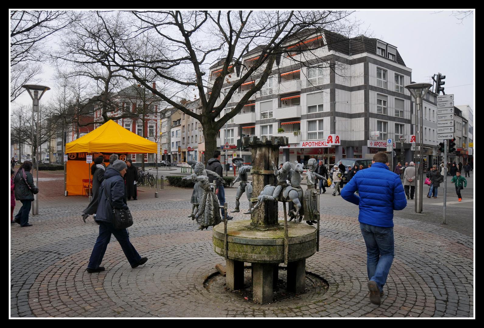 Krefeld - Am Puppen-Brunnen