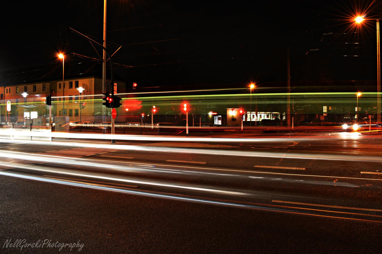 Krefeld bei Nacht