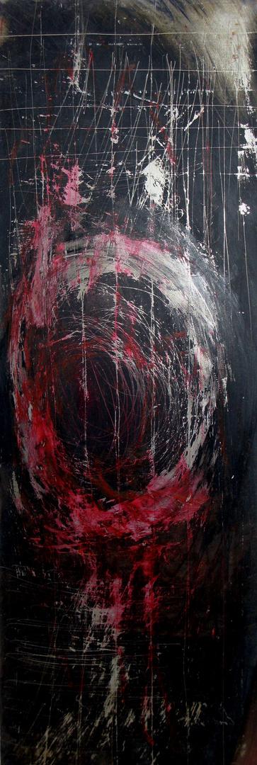 Kreisform rot/schwarz