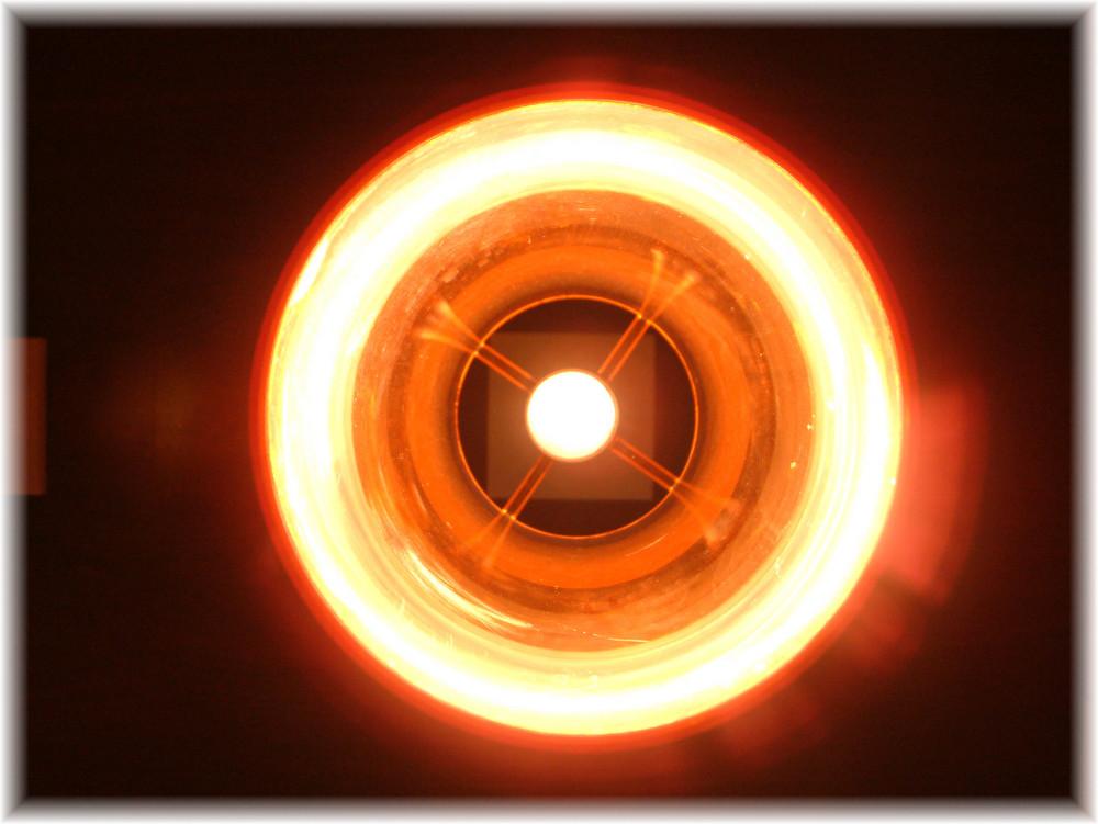 Kreisrundes Glühen
