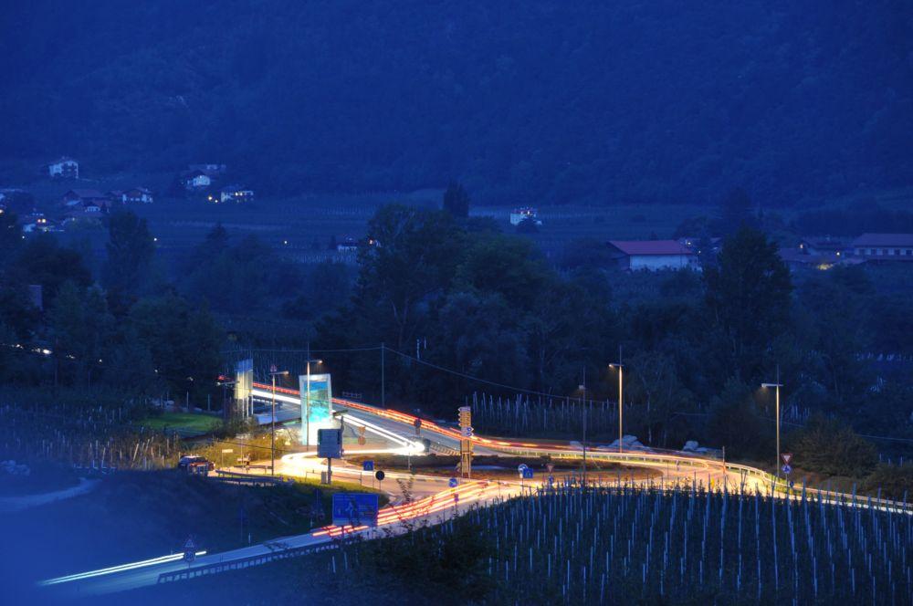 Kreisverkehr Naturns Italien