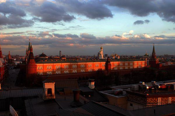 Kreml beim Sonnenuntergang