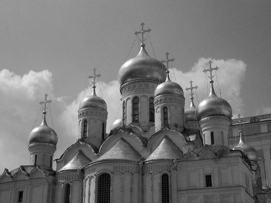Kreml: Goldene Kuppeln der Mariä-Verkündigungs-Kathedrale (Blagoweschtschenskij Sobor)