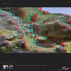 Kreta in 3D: Finix ob der Aradenaschlucht - VollHD als Anaglyphe und mpo-Datei
