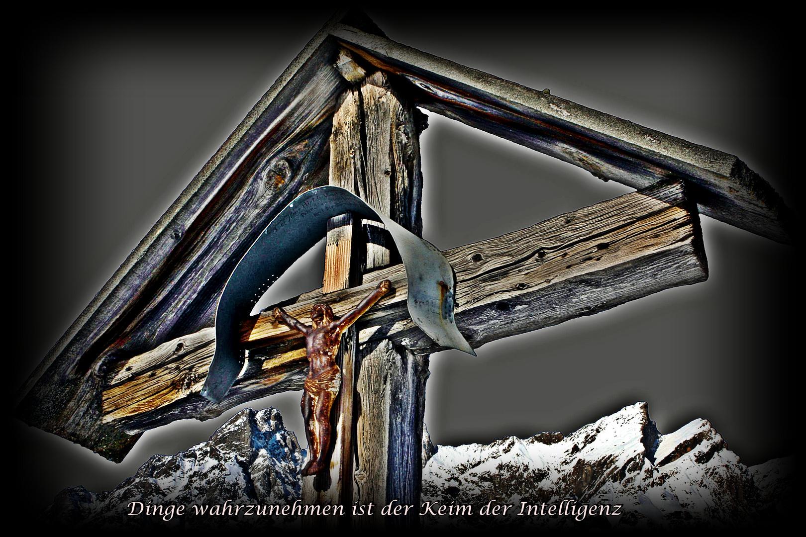 Kreuz von unseren Vorfahren,das leider entfernt wurde.
