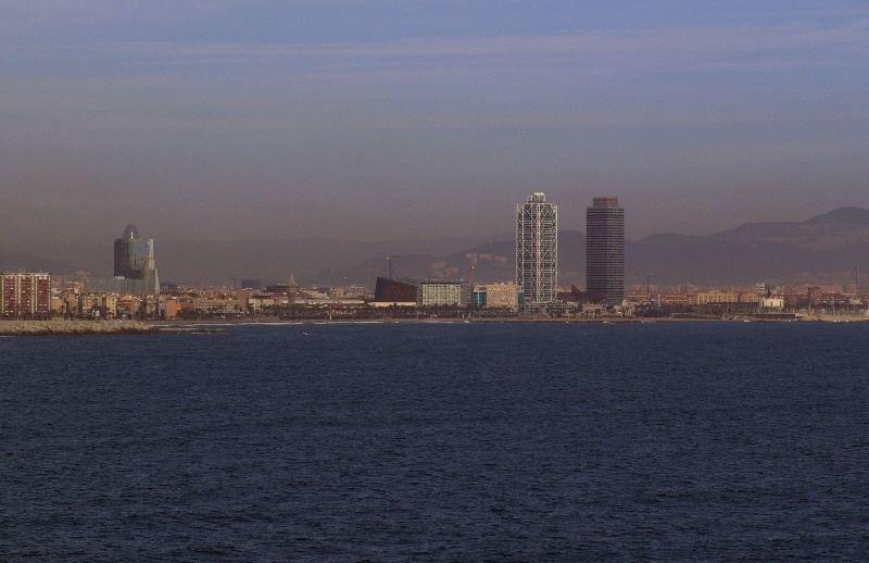 Kreuzfahrt-Barcelona in Sicht