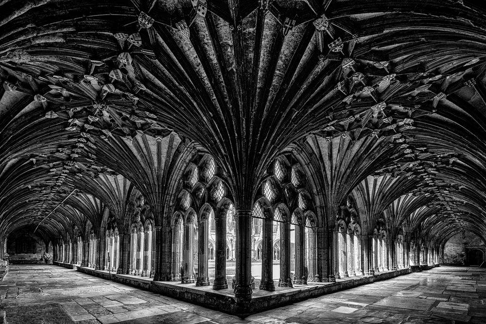 Kreuzgang der Kathedrale von Canterbury S/W