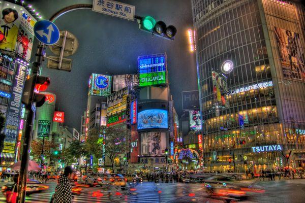 Kreuzung in Japan