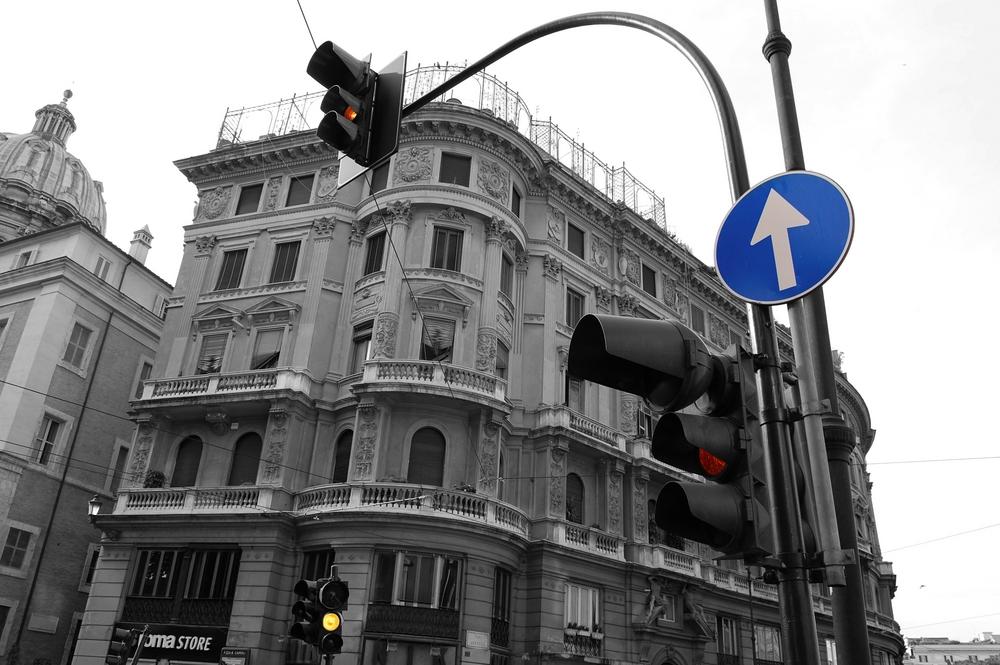 Kreuzung in Rom