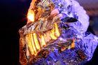 kristall angeleuchtet mit led