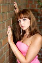 Kristina an der Wand