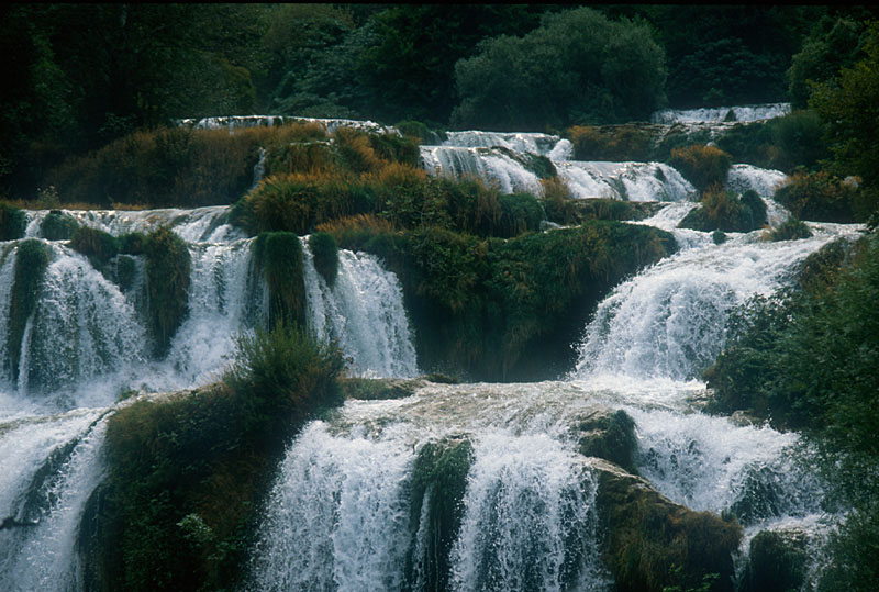 Krka waterfalls in former Yogoslawia