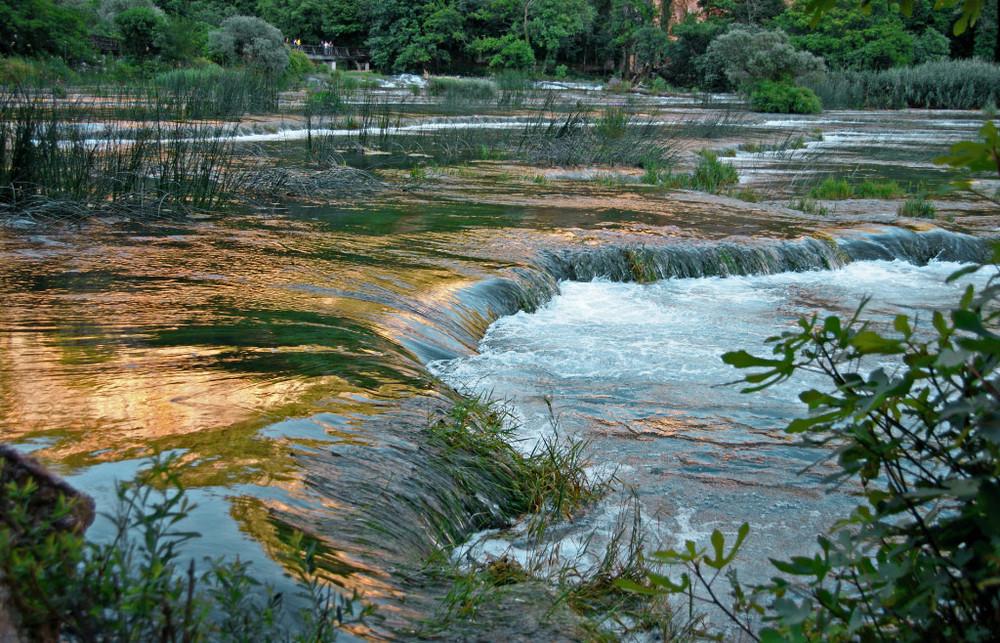 Krka.Parc national en Croatie