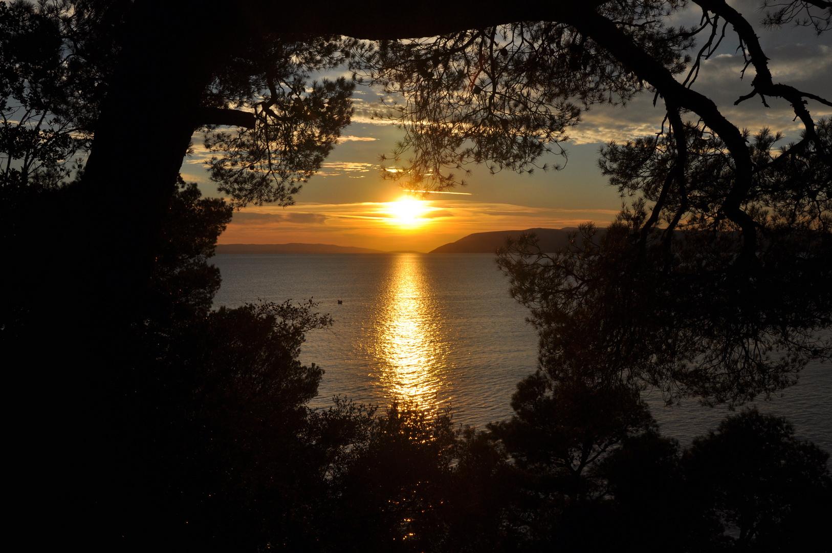 Kroatien-3-Markaska Sonnenuntergang