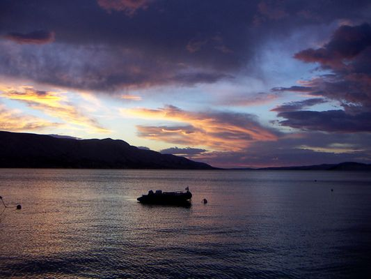 Kroatien nach dem Sonnenuntergang