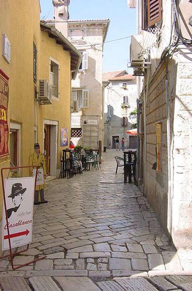 Kroatische Kleinstadt - Altstadtgasse