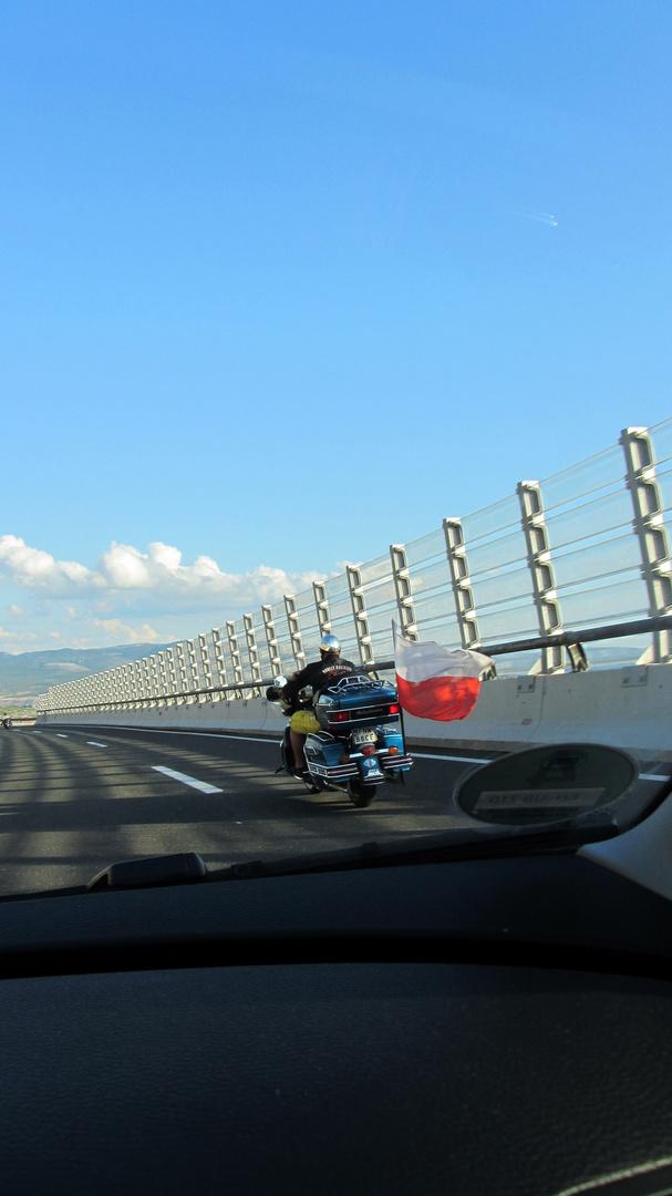 kroatischer Biker