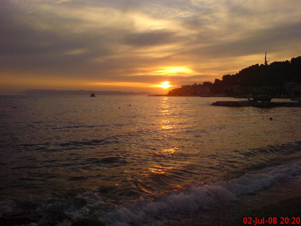 Kroatischer Sonnenuntergang