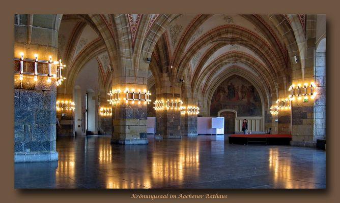 Krönungssaal im Aachener Rathaus