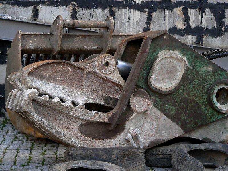 Krokodil im Hamburger Hafen