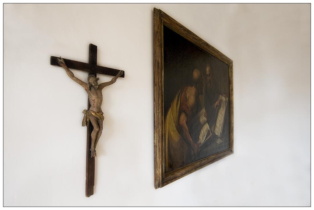 Kruzifix mit Bild