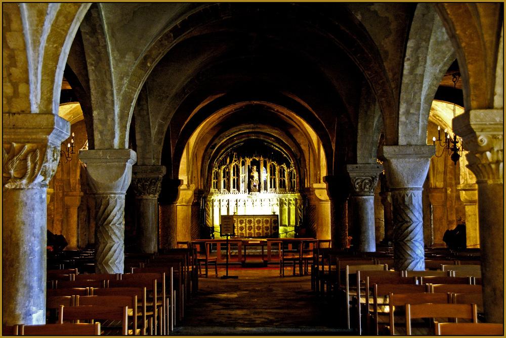 Krypta in der Cathedrale zu Canterbury
