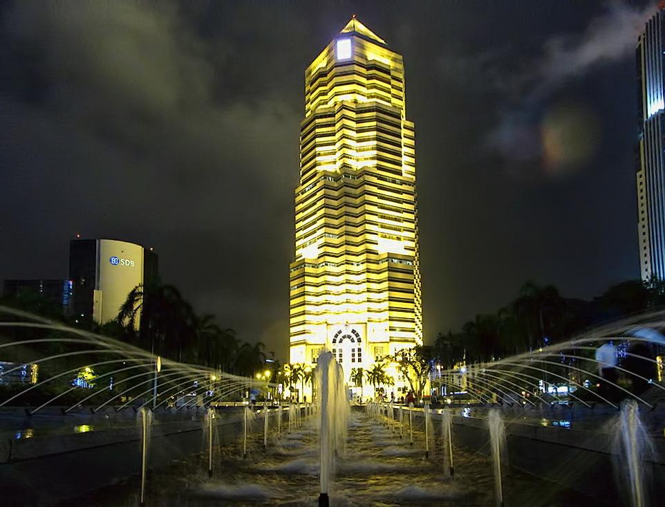 Kuala Lumpur - Public Bank in front of Petronas Twin Towers mod.1