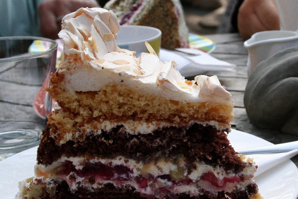 Kuchen von der anderen Seite