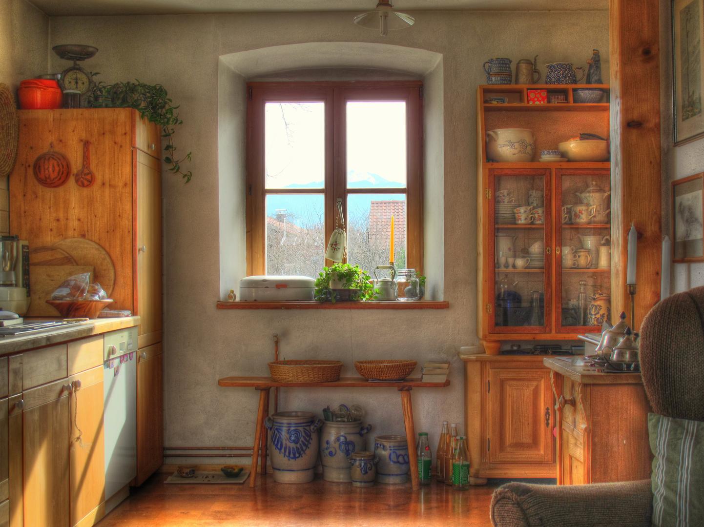 Küche in einem Haus in Rottau
