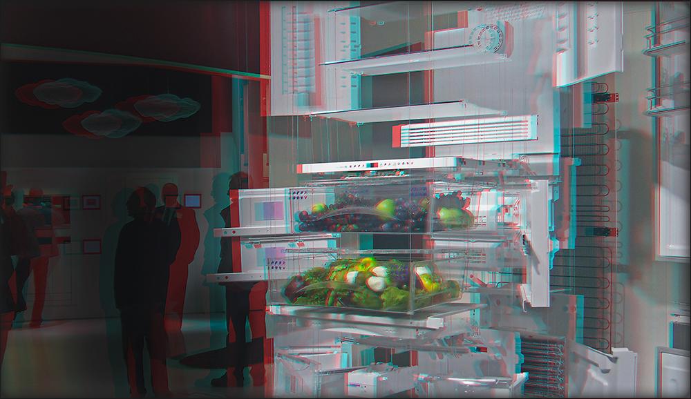 Kühlschrank, aufgehängter (3D)