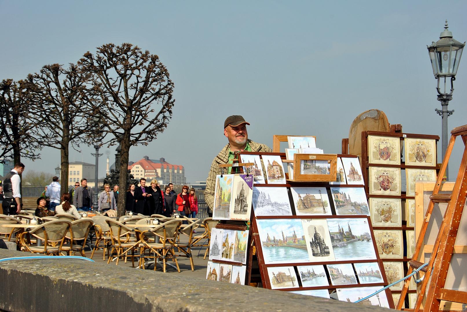 Künstler auf der Brühlschen Terrasse