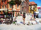Künstler in der Altstadt von Wroclaw