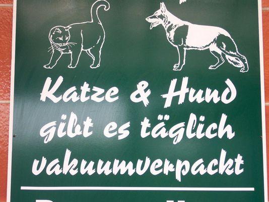 Kürzlich beim Fleischer in Schönefeld...